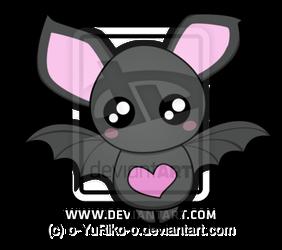 Cute Bat By O Yuriko O Cute Bat Cartoon Bat Cute Animal Drawings Kawaii