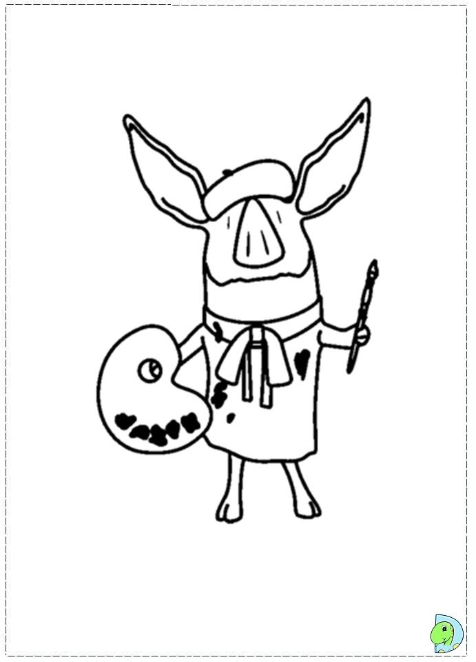 Olivia the Pig Coloring page- DinoKids.org | olivia the pig | Pinterest