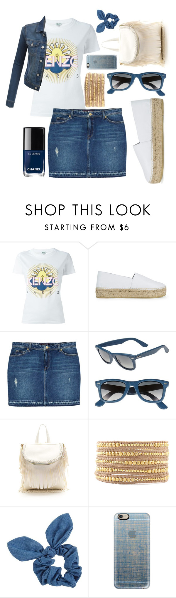"""Sun is up move your body!"" by sanela-enter ❤ liked on Polyvore featuring Kenzo, Violeta by Mango, Ray-Ban, Chan Luu, Chanel, Dorothy Perkins, Casetify and LE3NO"