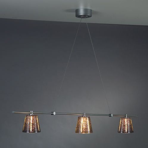 V/A Linear Chandelier by Bruck - //www.lightopiaonline.com/va ... on grey walls with fireplace, grey walls with design, grey walls with wood furniture, grey walls with art ideas,
