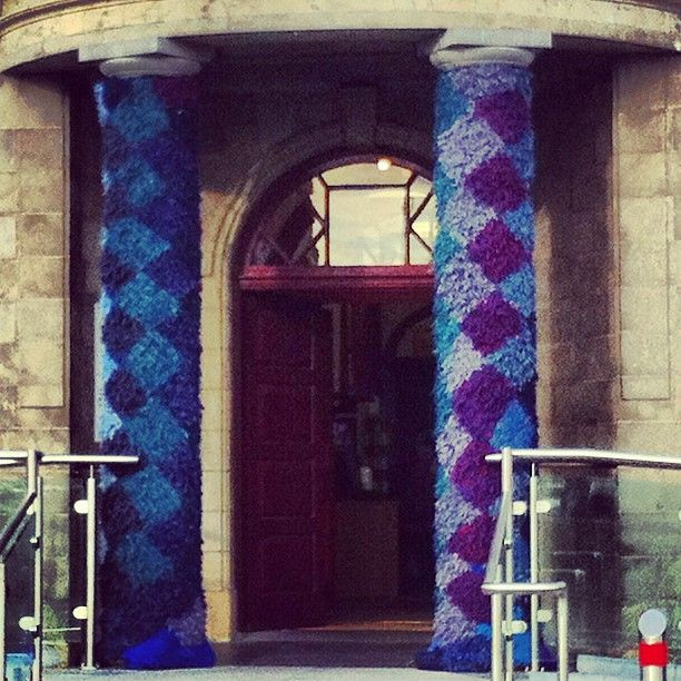 yarnbombing in Kilkenny arts fest 2012 - Photo by elishbulgodley • Instagram