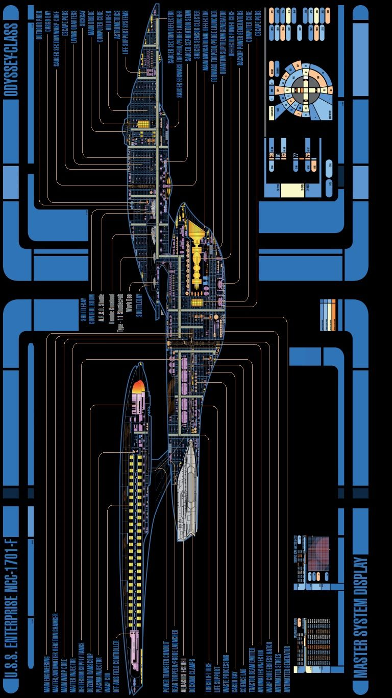 Odyssey Class Uss Enterprise F Schematic Star Trek Pinterest Engineering Schematics Bridge Ideas Stark