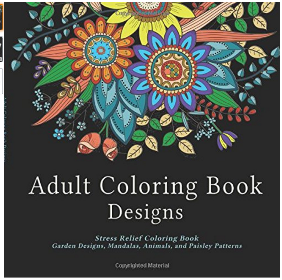 Adult Coloring Book Designs Stress Relief Garden Mandalas Animals And Paisley Patterns Dozens Of Pages Designed For