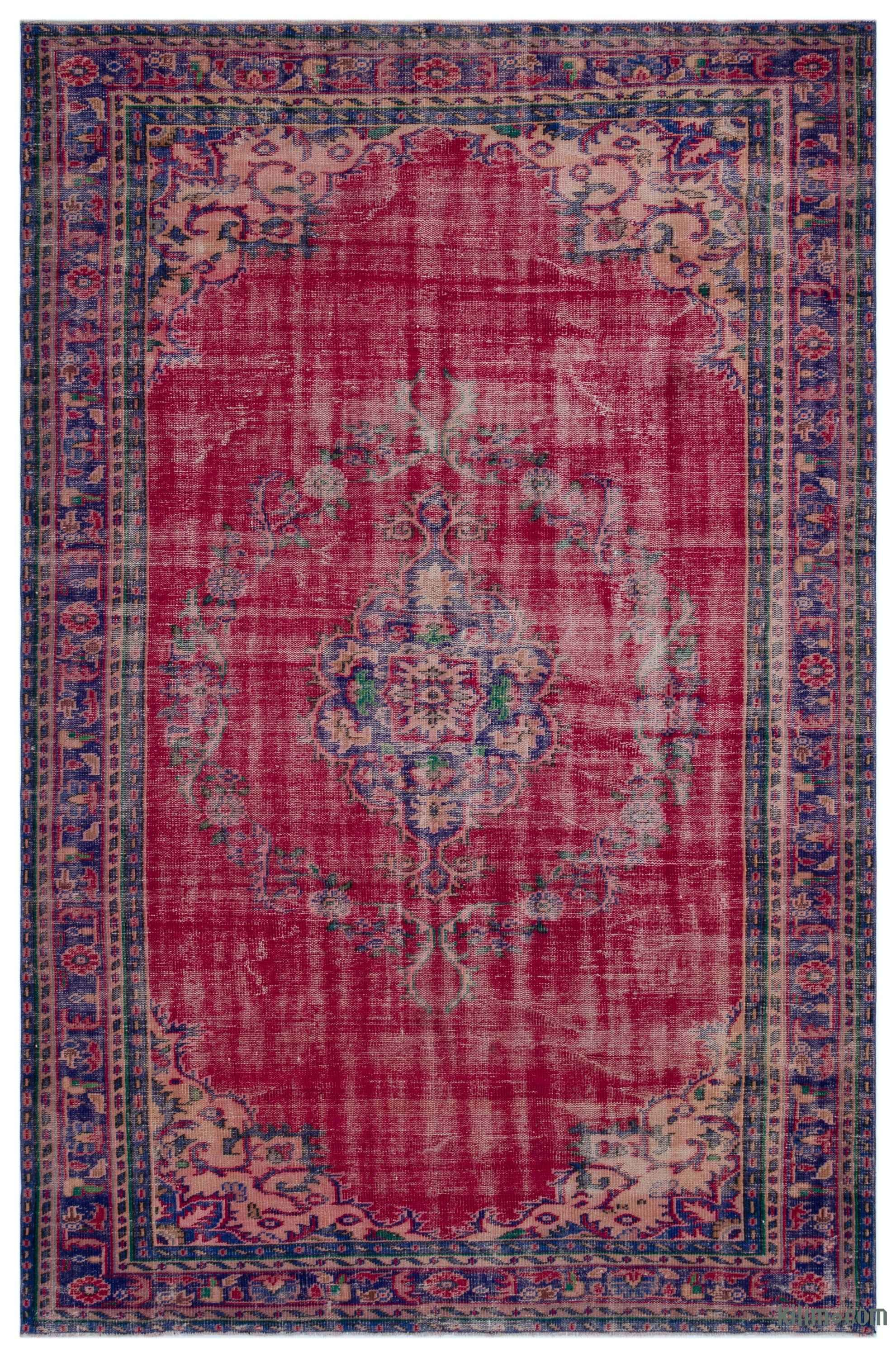 Turkish Vintage Area Rug 6 4 X 9 9 76 In X 117 In In 2020