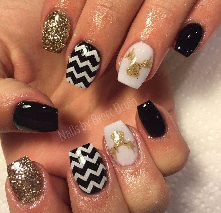 Reindeer Nail Decal | Tan | Deer nails, Tan nails and Nail decals