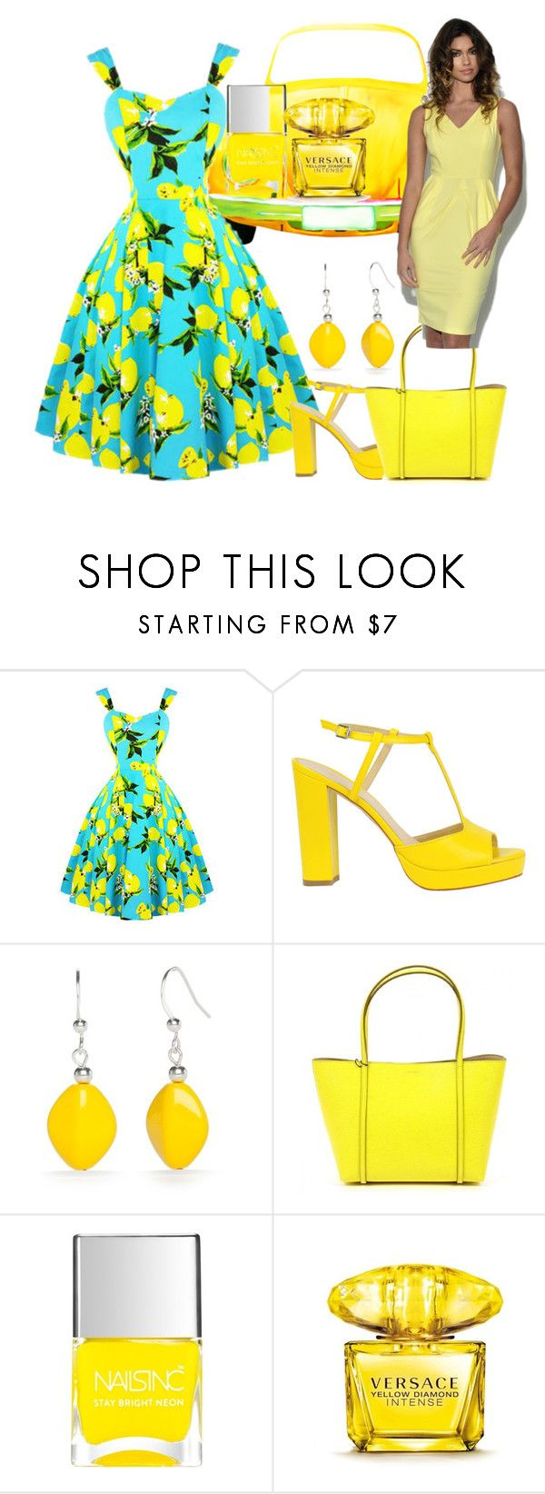 """""""Untitled #6020"""" by princhelle-mack ❤ liked on Polyvore featuring Kim Rogers, Dolce&Gabbana, Nails Inc. and Versace"""