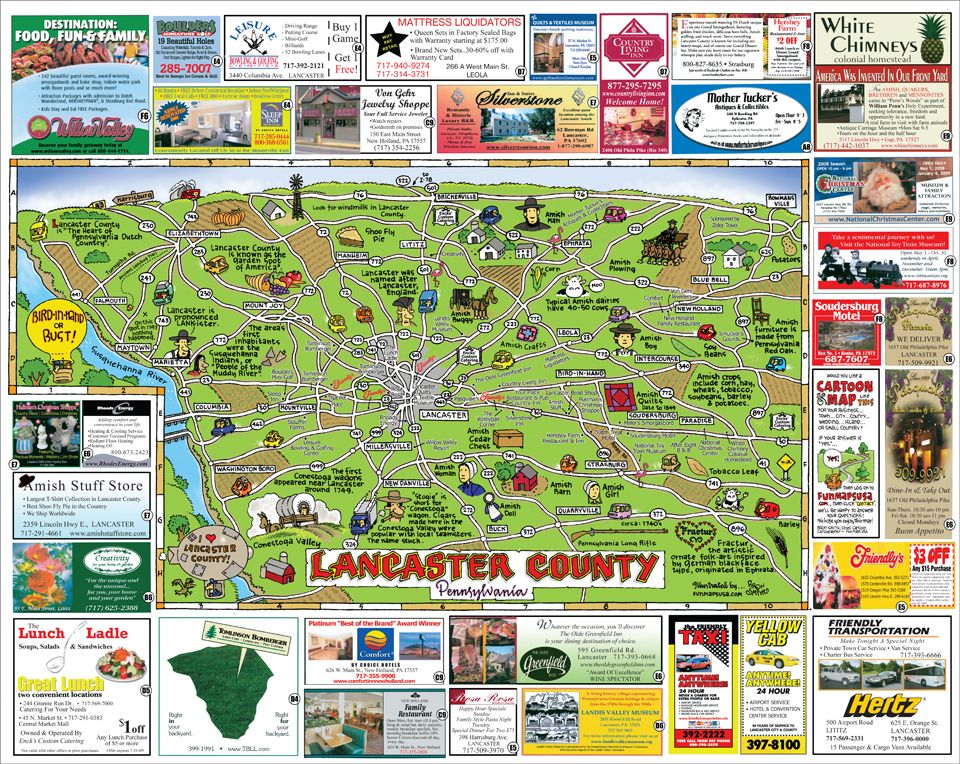 Fun Maps USA Lancaster County PA Write Pinterest Lancaster