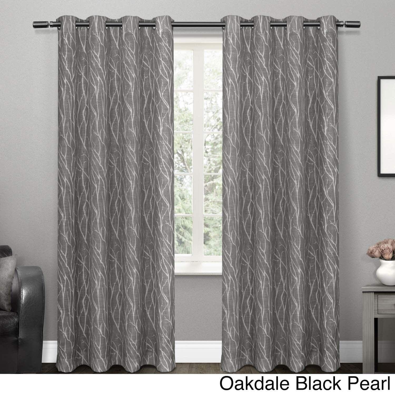 Ati Home Textured Linen Sheer Grommet Top Curtain Panel Pair