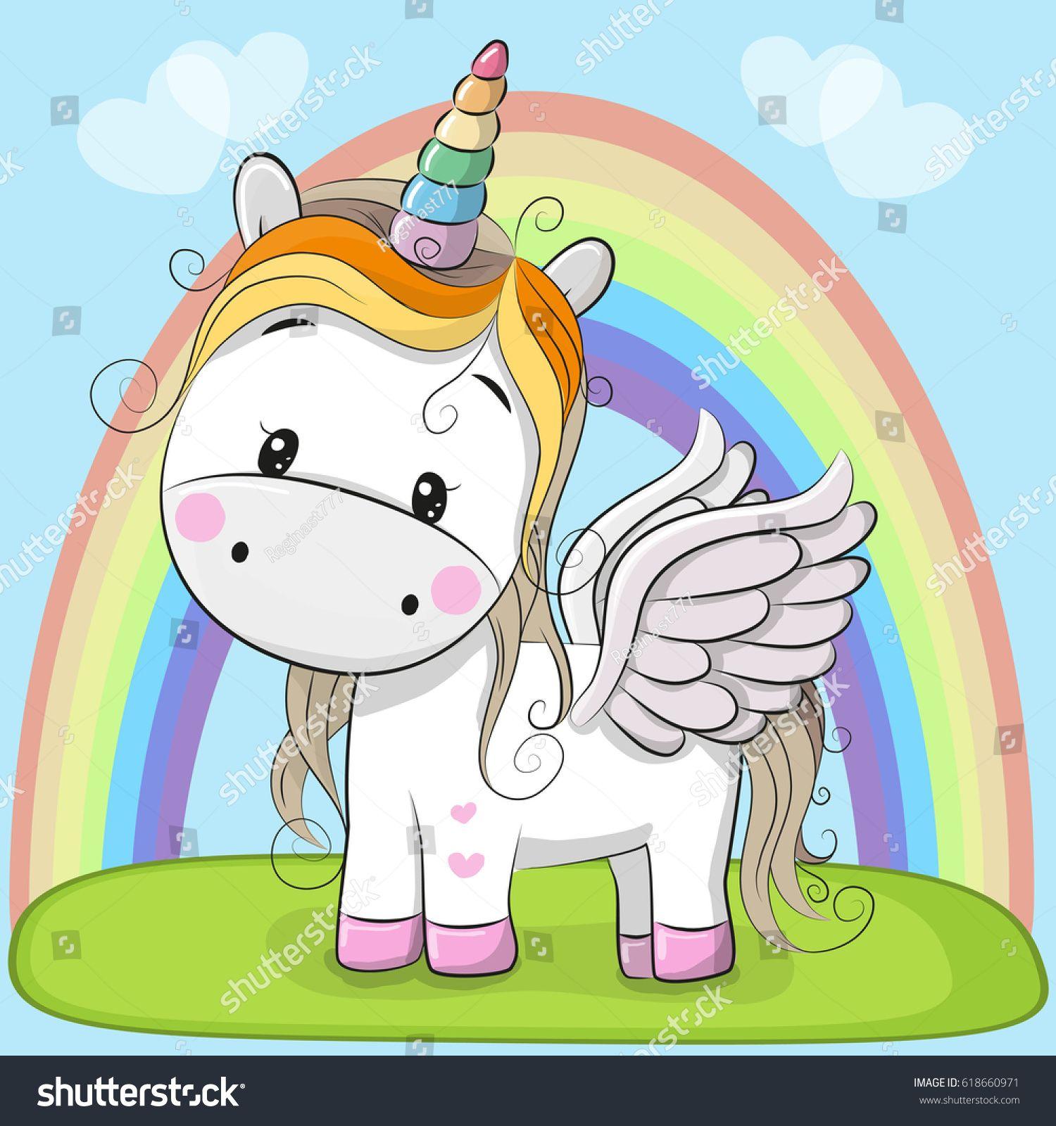cute unicorn cartoon - HD1500×1600