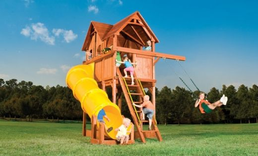 Tall Swingset With Small Footprint In 2019 Small Backyard