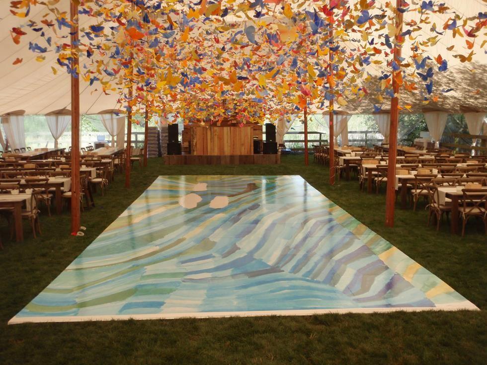 Bright event rentals dance floor and flooring outdoor