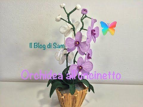 Tutorial Orchidea Uncinetto Tunisino/ Crochet Orchid/DIY Orchid ...