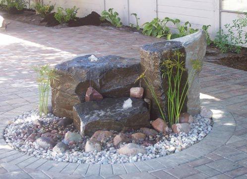 Bubbling Rocks Rock Fountain Water Features Backyard Water Feature
