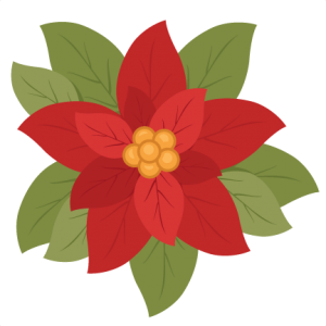christmas poinsettia flower scrapbook clip art christmas cut outs rh pinterest com christmas poinsettia clip art free