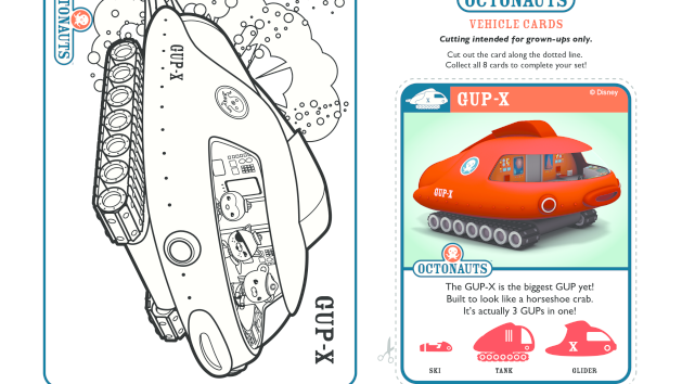 Octopod Octonauts Disney Junior Colouring Pages