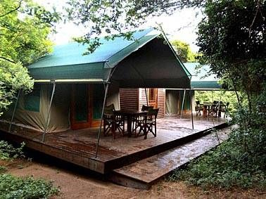 Permanent tents google search tent living pinterest for Permanent camping tents