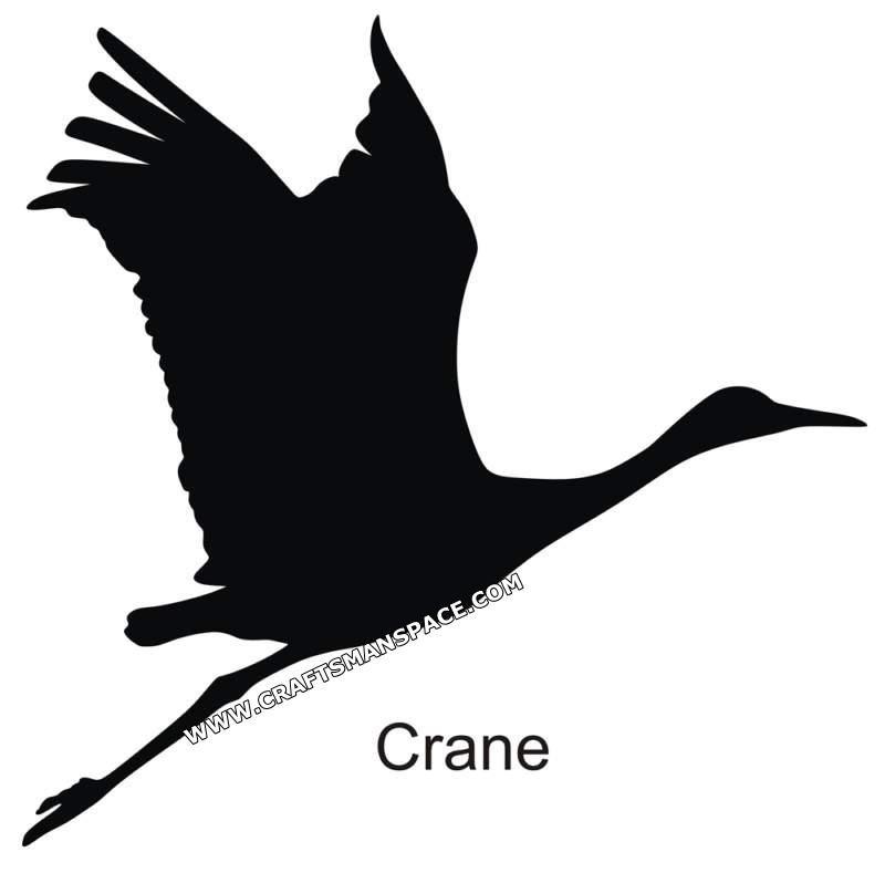 Crane silhouette animal silhouette silhouette drawing