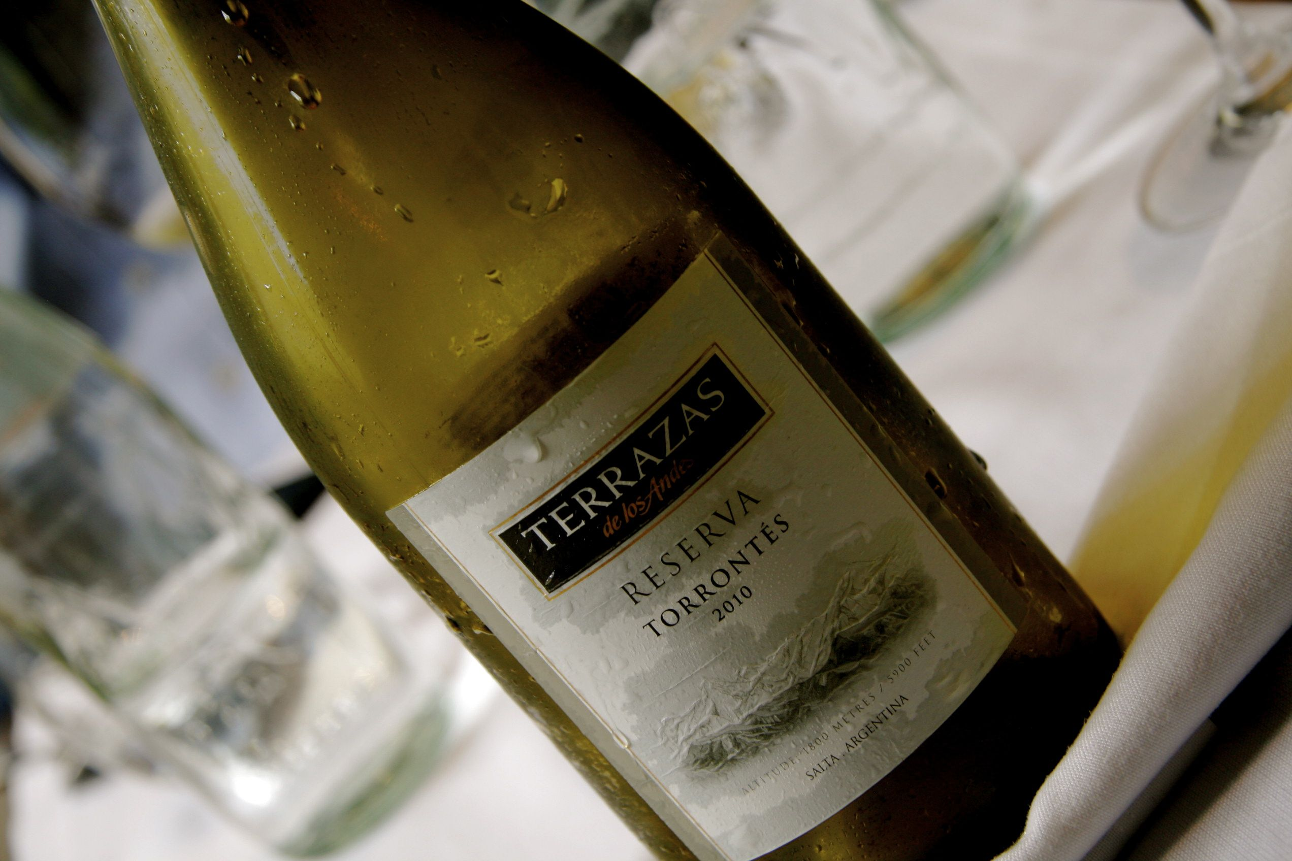 Terrazas De Los Andes Torrontes 2010 Favorite Wine Wine Bottle Wines