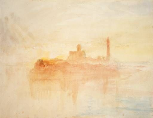 Booksnbuildings J M W Turner Watercolour From Venice Turner