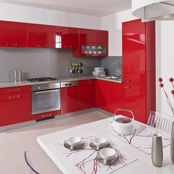 Cocinas rojas peque as cocina color rojo rojo cocina - Cocinas color rojo ...
