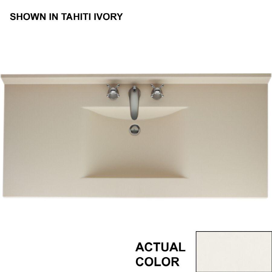 Swanstone Contour Bisque Solid Surface Rectangular Bathroom Vanity
