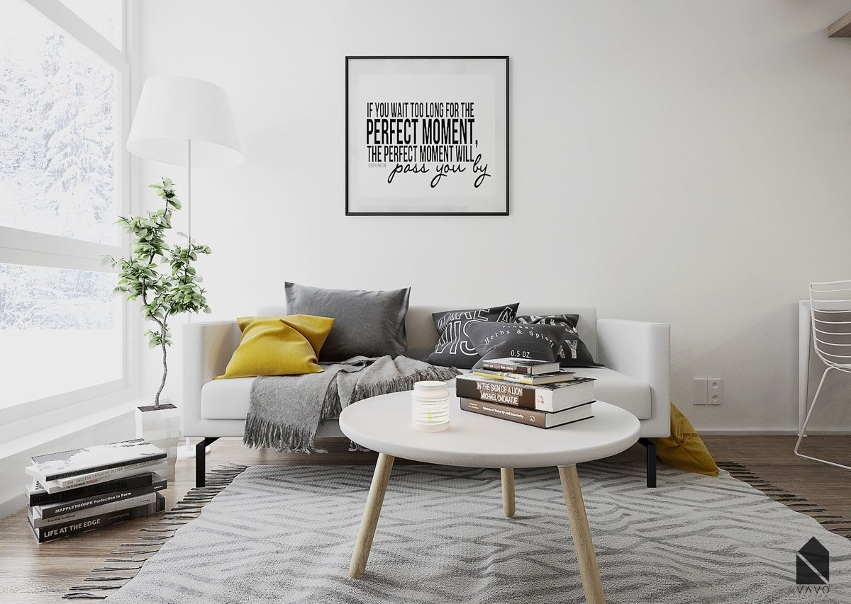 Yellow Accents In Scandinavian Style Interiors 3 Examples That