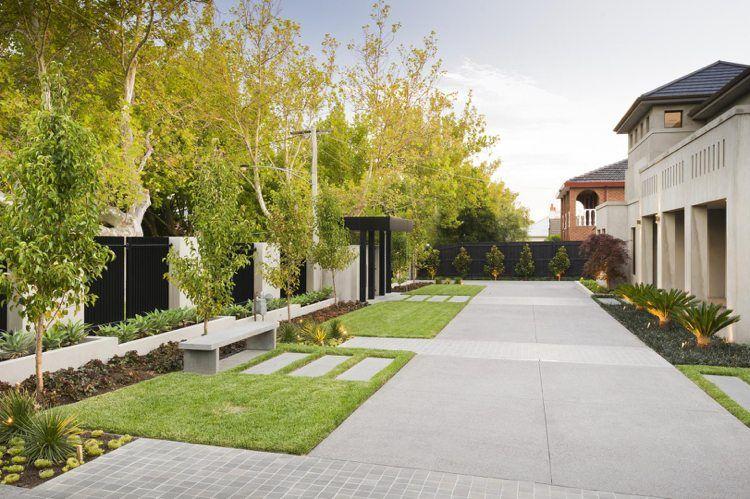 Jardins Contemporains Peu D Entretien Amenagement Jardin Jardins Jardin Facile