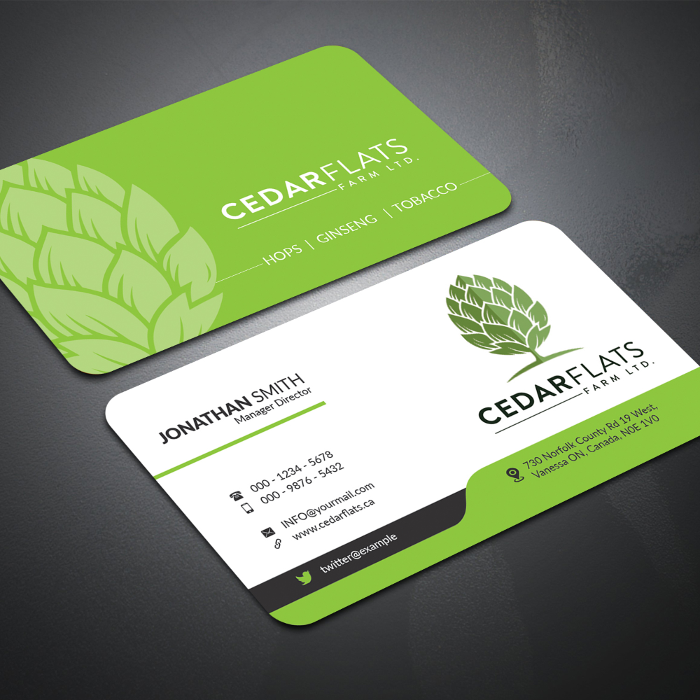 Agriculture Business Card Templates Free Download Free Business Card Templates Card Templates Vector Business Card