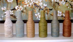 Tavaszi dekoráció, tavaszi dekoráció fonalból