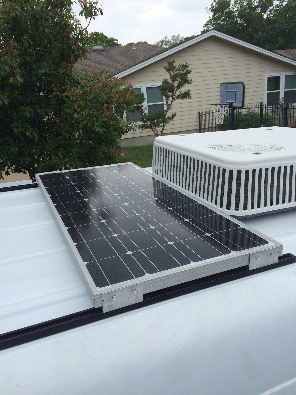 Sprinter Van Conversion Solar Panel On A ProLine Roof Track System