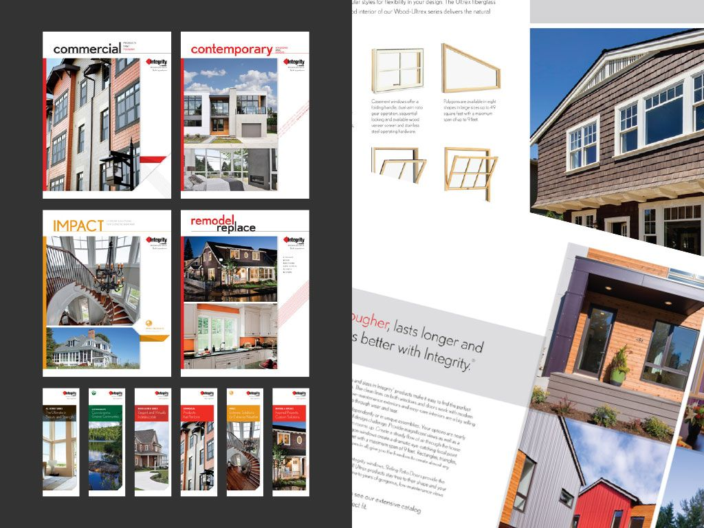 we updated 4 large brochures and 6 gatefolds for integrity windows