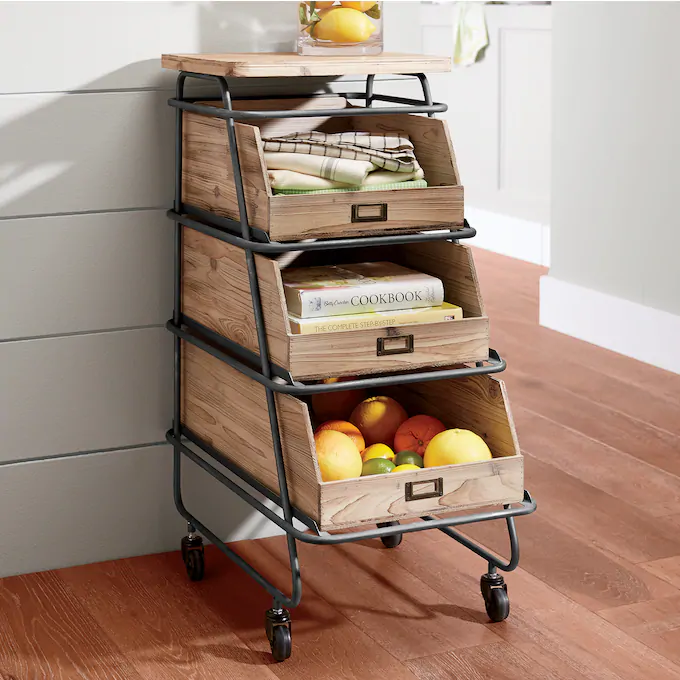 Tiered Drawer Cart in 2020 Drawer cart, Tall kitchen