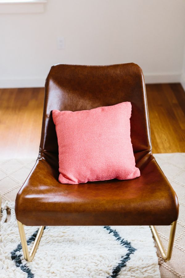 DIY IKEA Hacks Via A Blissful Nest, Leather Lounge Chair By Style Me Pretty