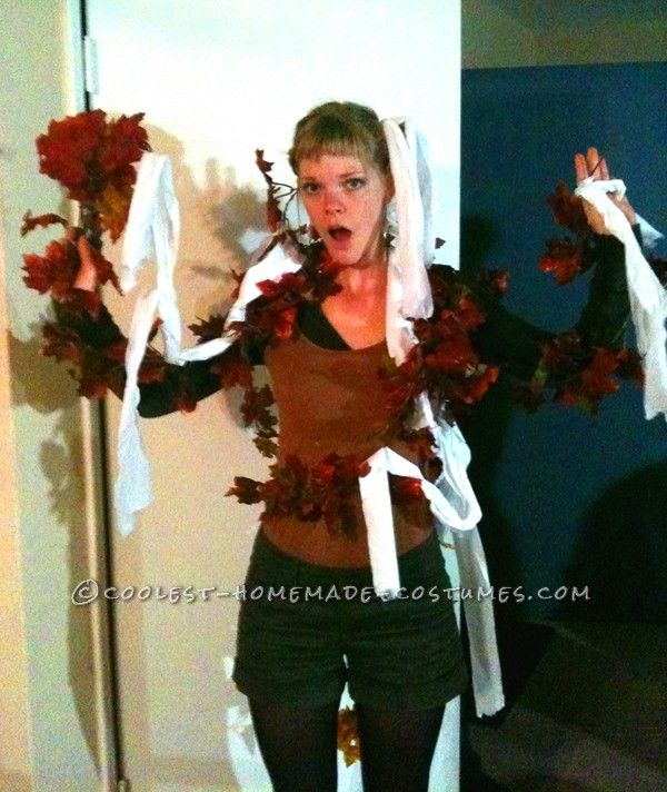 Cool Toilet-Papered Tree Costume | Toilet paper trees, Tree costume ...