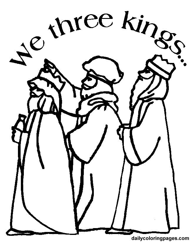 We 3 Kings Nativity Coloring Pages Coloring Pages Christmas Coloring Pages