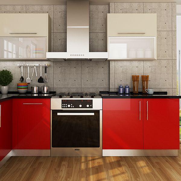 Kitchen Cabinets Laminate Red Op14 Hpl01 Kitchen Cabinets Kitchen Cabinets For Sale Kitchen Design Small