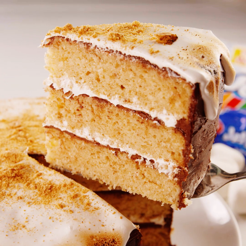 The Making Of This S'mores Cake Is Mesmerizing