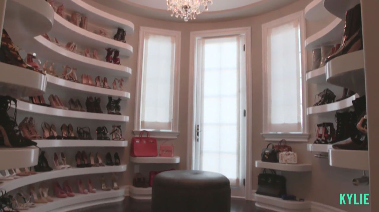 Kylie Jenneru0027s Walk In Shoe Closet Is Straight Out Of Your Dreams