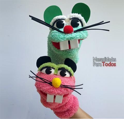 Convierte los calcetines desparejados en t teres - Como hacer marionetas de mano ...