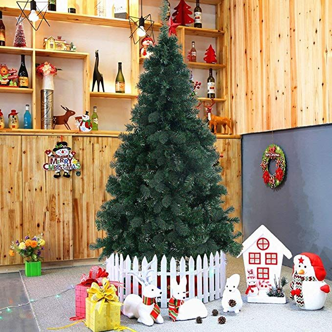 Artificial Christmas Tree Xmas Pine Tree with Solid Metal Legs
