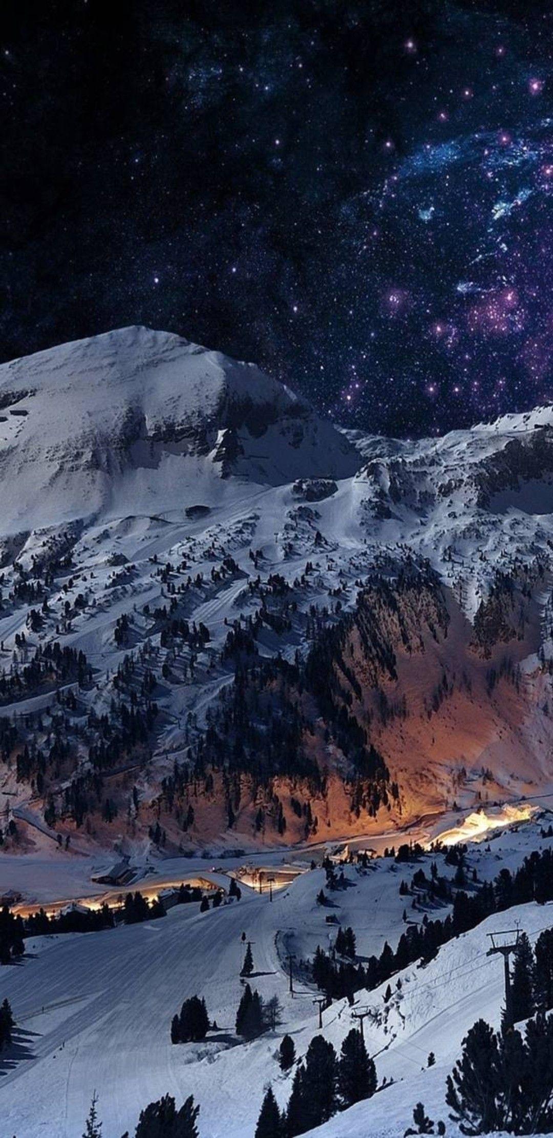 Winter Village Iphone Wallpaper