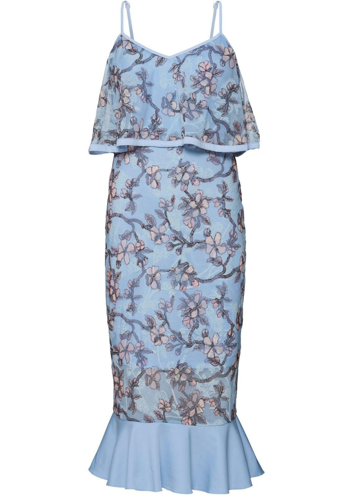 199-in-19-Kleid bestickt 190-193199 in Blau 3199/19 - Bestickte Kleider