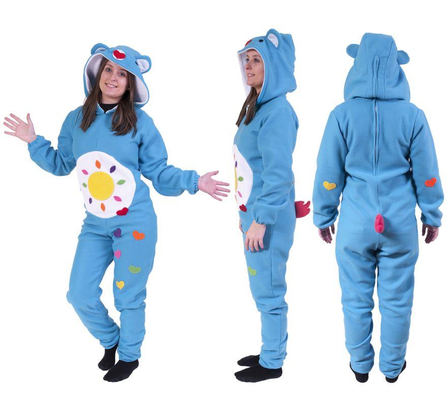 disfraz de oso carioso azul turquesa para adultos