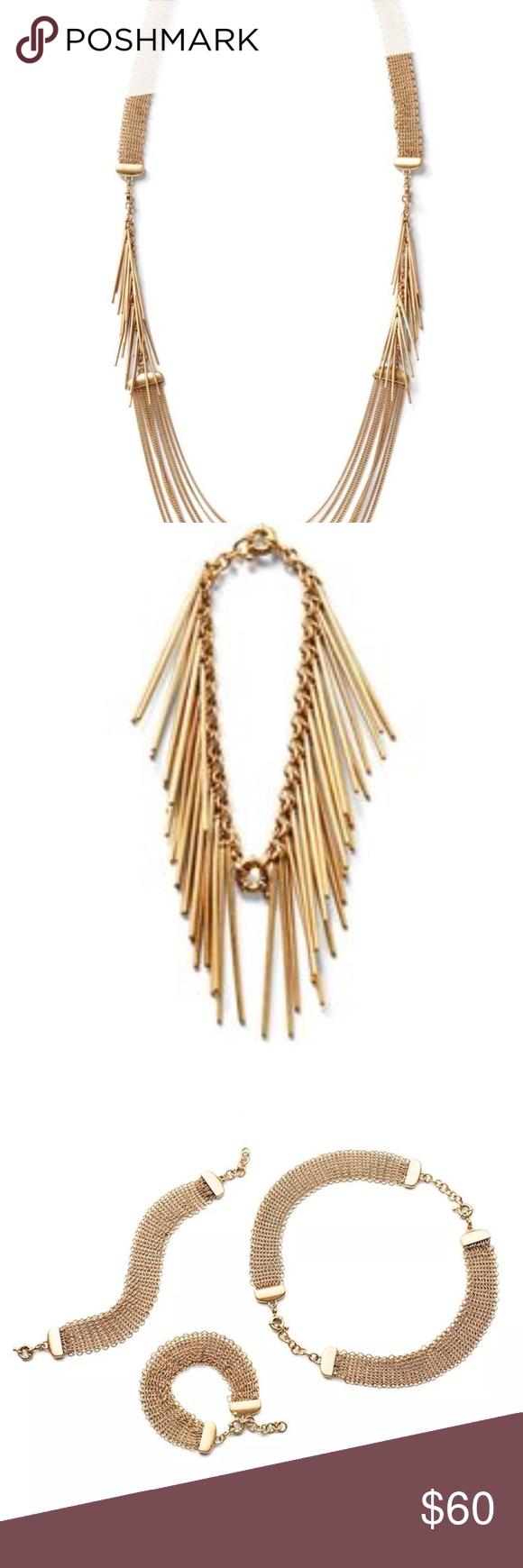 1177afd06e42f9 cabi Riviera Necklace #2110 Spring 2017 Matte Gold Endlessly versatile this  piece can be worn