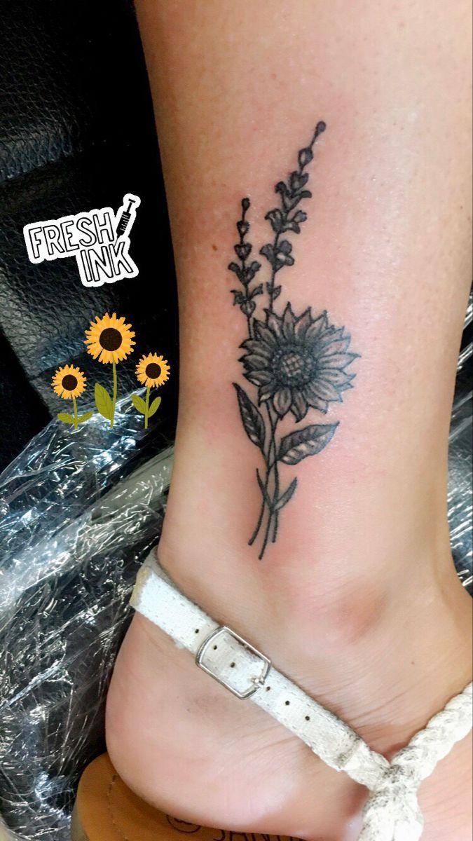 #tattoo #sunflower #pretty#kansas #blackandgrey