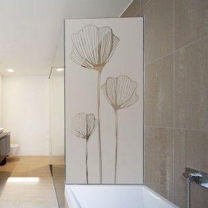 sticker pour paroi de douche coquelicot paroi de douche. Black Bedroom Furniture Sets. Home Design Ideas