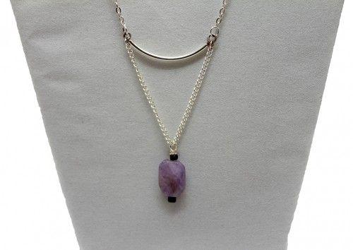 """Brand new on jfoxjewelry.com  """"Sophia"""" Silver Necklace - JFox Jewelry"""