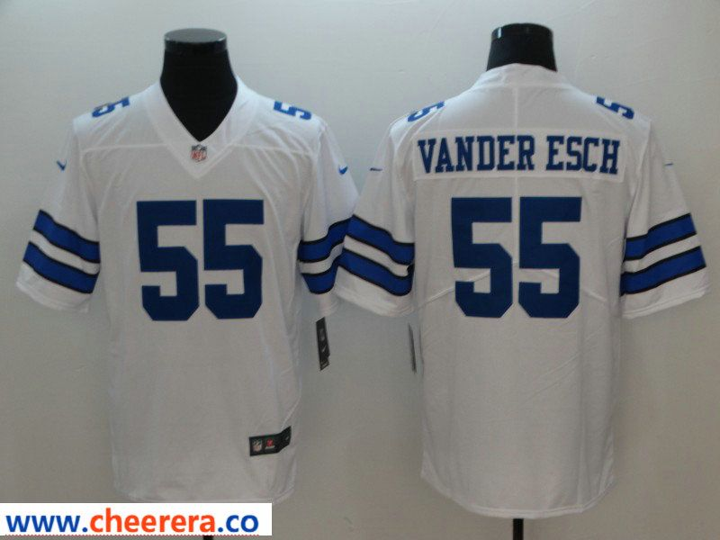 new products 3c216 cface Nike Cowboys 55 Leighton Vander Esch White Vapor Untouchable ...
