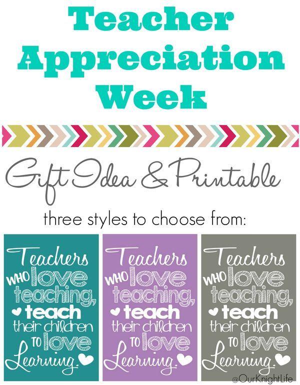 Teacher Appreciation Printable - Teachers who love teaching gift ...