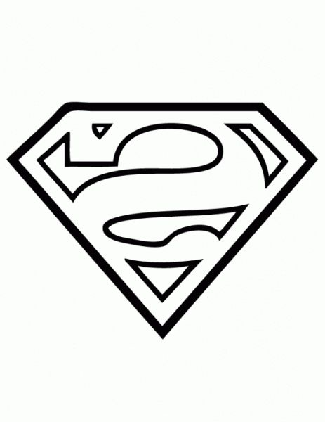 Incredible Lovely superman logo coloring pages httpcoloring